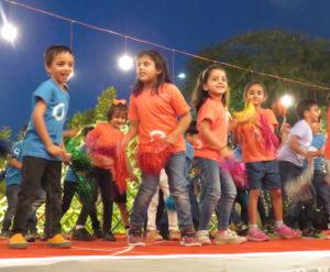 Children on stage.